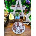 Candy Bar για Βάπτιση με διακόσμηση Ζωάκια Ζούγκλας με θεματικά Cupcakes, Cake pops, Καραμελωμένο ποπ κορν, Ατομικά Γλυκά και Μπισκότα Βάπτισης