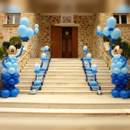 Στολισμός Βάπτισης με Μπαλόνια με θέμα τον αγαπημένο Μίκυ