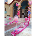 """Μπαλόνια για Βάπτιση με θέμα την """"Minnie Mouse"""" για εξωτερικό στολισμό στην εκκλησία"""