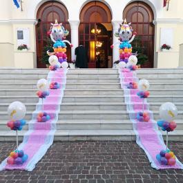 Στολισμός Βάπτισης με Μπαλόνια με θέμα τον Μονόκερο, ιδανικός για βάπτιση κοριτσιού