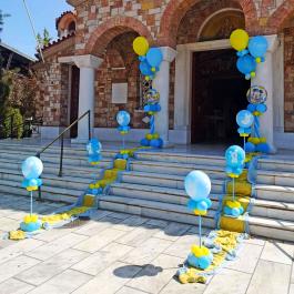 Μπαλόνια Βάπτισης Κολωνάκια με θέμα τον Μίκυ μωρό