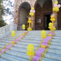 Πουά Μπαλόνια σε όλες τις αποχρώσεις για στολισμό βάπτισης για κορίτσι ή διδυμάκια