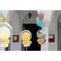 """Μπαλόνια Βάπτισης """"Sweet Pastel"""" για Διδυμάκια"""