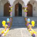 Θεματική Βάπτιση Κοριτσιού με Μπαλόνια Πεταλούδα για στολισμό εκκλησίας