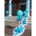 """Μπαλόνια για Βάπτιση αγοριού """"Nautical Summer"""" σε ναυτικό καλοκαιρινό θέμα για στολισμό εκκλησίας"""