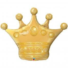 """Μπαλόνι Foil Στέμμα """"Golden crown"""" 104εκ.. - 49343"""