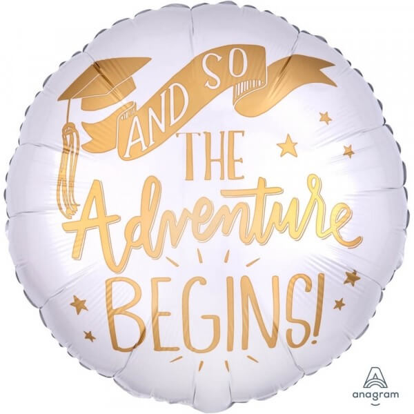 "Μπαλόνι Foil ""The Adventure Begins Congratulations Grad"" 43εκ. - Κωδικός: 37637 - Anagram"