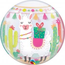 """Μπαλόνι Bubble """"Llama Birthday"""" 56εκ. - 87742"""
