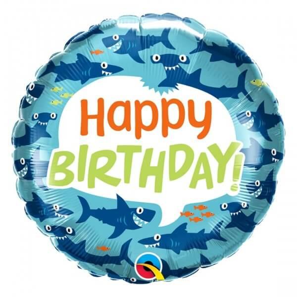 """Μπαλόνι Foil """"Birthday Shark"""" 46εκ. - 97379"""