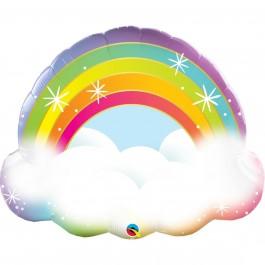 """Μπαλόνι Foil """"Rainbow"""" 81εκ."""