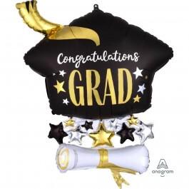 """Μπαλόνι Foil """"Cap & Diploma"""" 63εκ. - Κωδικός: A4091501 - Anagram"""