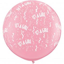 """Μπαλόνια Latex γίγας """"Its A Girl"""" 76εκ. (2 τεμάχια) - 29166"""