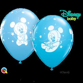 """Μπαλόνια Latex """"Mickey Mouse Baby Stars"""" 28εκ. (5 τεμάχια) - Κωδικός: 42839 - Qualatex"""