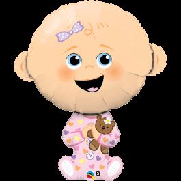 """Μπαλόνι Foil """"Baby Girl"""" 96εκ. - Κωδικός: 43362 - Qualatex"""