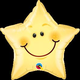 """Μπαλόνι Foil """"Αστέρι Smiley Face"""" 51εκ. - 55394"""