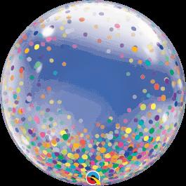 """Μπαλόνι Deco Bubble """"Colourful Confetti"""" 61εκ. - 57791"""