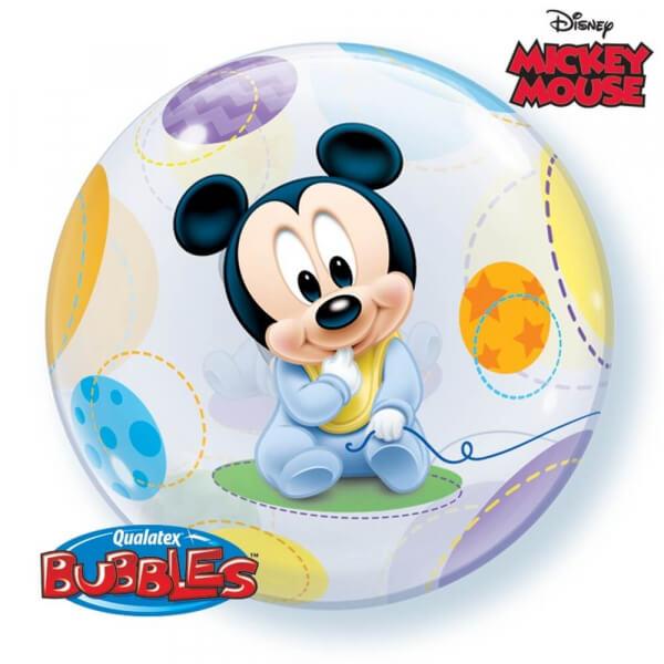 """Μπαλόνι Bubble """"Baby Mickey"""" 56εκ. - Κωδικός: 16432 - Qualatex"""