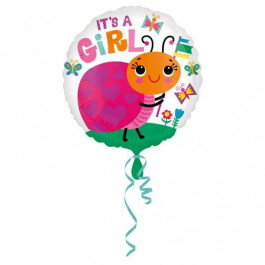 """Μπαλόνι Foil """"It's a girl Ladybug"""" 43εκ. - Κωδικός: A3364501 - Anagram"""