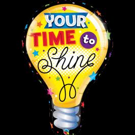 """Μπαλόνι Foil """"Your Time to Shine"""" 101εκ. - Κωδικός: 23922 - Qualatex"""
