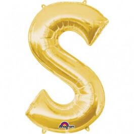 """Γράμμα """"S"""" μεγάλο - Anagram - χρυσό - A3298401"""