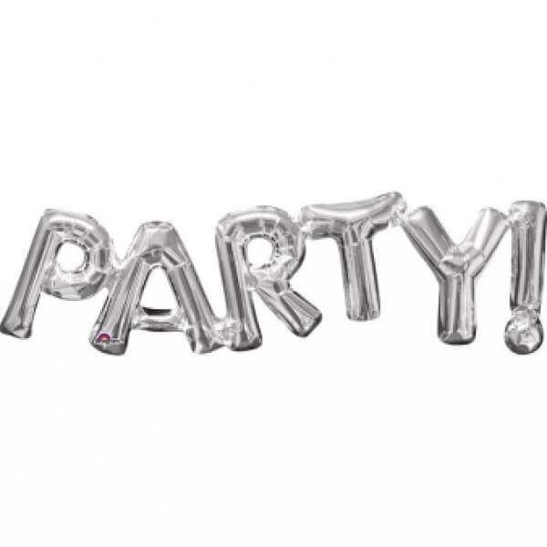 """Λέξη """"Party"""" μεγάλο - Anagram ασημί - A3309901"""