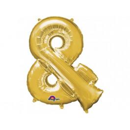 """Σύμβολο """"&"""" μεγάλο - Anagram χρυσό - A3300601"""