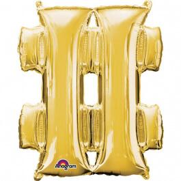 """Σύμβολο """"#"""" μεγάλο - Anagram - χρυσό - A3300401"""