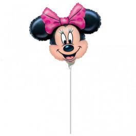 """Μπαλόνι Foil μικρό για στικ """"Minnie Mouse"""" 23εκ. - Κωδικός: A0789002 - Anagram"""