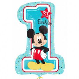 """Μπαλόνι Foil """"1st Birthday Mickey Mouse"""" 48εκ. x 71εκ. - Κωδικός: A3434301 - Anagram"""
