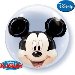 """Μπαλόνι Bubble Διπλό """"Mickey κεφάλι"""" 61εκ. - Κωδικός: 27569 - Qualatex"""