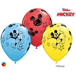 """Μπαλόνια Latex """"Mickey Mouse"""" 28εκ. (5 τεμάχια) - Κωδικός: 18688 - Qualatex"""