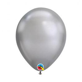 """Μπαλόνια Qualatex """"Chrome Ασημί"""" 28εκ."""