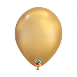 """Μπαλόνια Qualatex """"Chrome Χρυσό"""" 28εκ."""
