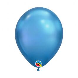 """Μπαλόνια Qualatex """"Chrome Μπλε"""" 28εκ."""
