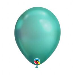 """Μπαλόνια Qualatex """"Chrome Πράσινο"""" 28εκ."""