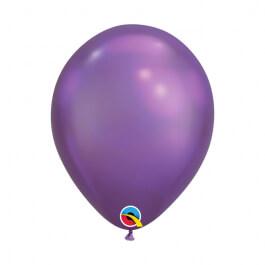 """Μπαλόνια Qualatex """"Chrome Μωβ"""" 28εκ."""