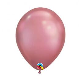 """Μπαλόνια Qualatex """"Chrome Mauve"""" 28εκ."""