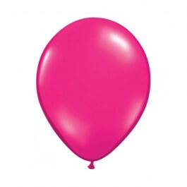 """Μπαλόνια Qualatex """"Διάφανο Magenta"""" 28εκ."""