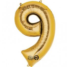 """Νούμερο """"9"""" μεγάλο - Anagram - χρυσό - A2826001"""