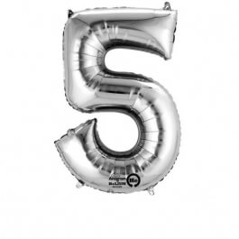 """Νούμερο """"5"""" μικρό - Anagram - ασημί - A3308411"""