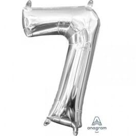 """Μπαλόνι αριθμός Νούμερο """"7"""" μικρό - Anagram - ασημί - Κωδικός: A3308801 - Anagram"""