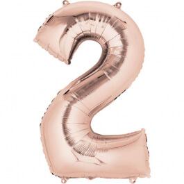"""Νούμερο """"2"""" μεγάλο - Anagram - ροζ χρυσό - A3621201"""