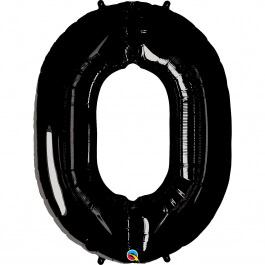 """Νούμερο """"0"""" μεγάλο - Qualatex - μαύρο - 36281"""
