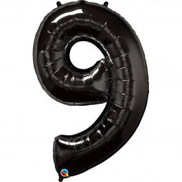 """Νούμερο """"9"""" μεγάλο - Qualatex - μαύρο - 36365"""