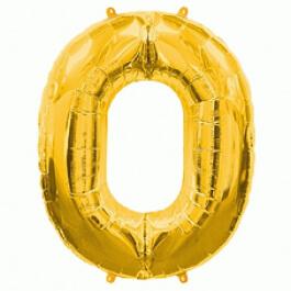 """Νούμερο """"0"""" μεγάλο - Flexmetal - χρυσό - 7917601"""