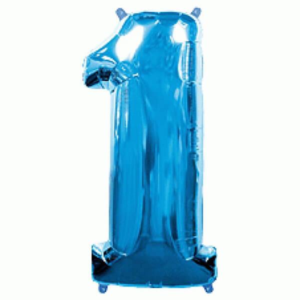 """Μπαλόνι αριθμός Νούμερο """"1"""" μεγάλο - Flexmetal - μπλε - Κωδικός: 7917614 - Flexmetal"""