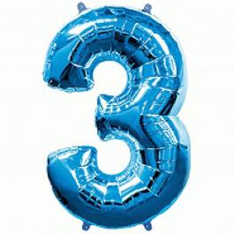 """Νούμερο """"3"""" μεγάλο - Flexmetal - μπλε - 7917634"""