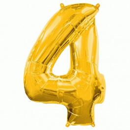 """Νούμερο """"4"""" μεγάλο - Flexmetal - χρυσό - 7917641"""