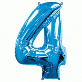 """Νούμερο """"4"""" μεγάλο - Flexmetal - μπλε - 7917644"""