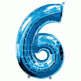 """Νούμερο """"6"""" μεγάλο - Flexmetal - μπλε - 7917664"""